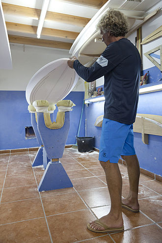 Surfboard shaper - Shaper in his workshop