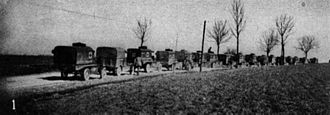 AFS Intercultural Programs - The American Ambulance Field Service convoy near Dombasle-en-Argonne in 1917