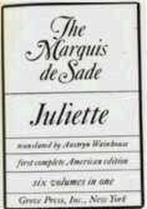 Juliette (novel) - Title page of 1968 translation by Austryn Wainhouse