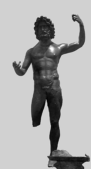 Jupiter (mythology) - A bronze statue of Jupiter, from the territory of the Treveri