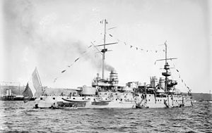 French battleship Justice - Justice at the Hudson-Fulton Celebration in the United States