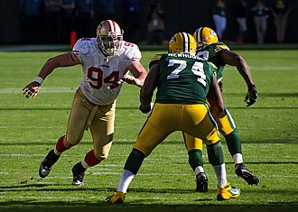 Justin Smith (defensive end) - Justin Smith lined up against Marshall Newhouse in 2012