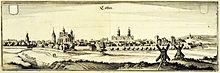 Köthen um 1650 (Kupferstich) (Quelle: Wikimedia)