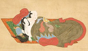 Marriage in Japan - Caught in the Act, hanging scroll by the Kanbun Master, late 1660s, Honolulu Museum of Art.