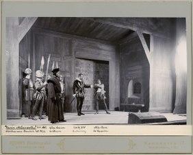 Karin Månsdotter, Dramatiska teatern 1899. Föreställningsbild - SMV - H10 030.tif