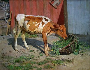 Karl Uchermann - I solveggen (1899)