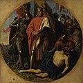 Karl von Blaas - Rudolf I. von Habsburg an der Leiche Ottokars bei Dürnkrut 1278 - 2723 - Kunsthistorisches Museum.jpg
