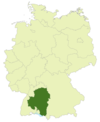 A map of Germany with the location of Baden-Württemberg highlighted