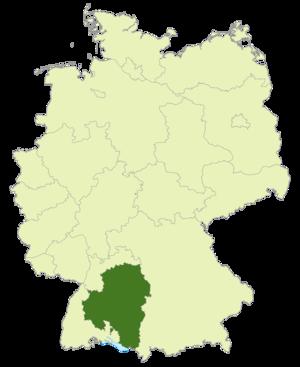 Amateurliga Württemberg - Image: Karte DFB Regionalverbände WÜ
