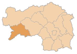 Murau District - Image: Karte Aut Stmk MU
