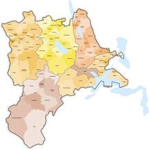 Canton of Lucerne-Political subdivisions-Karte Gemeinden des Kantons Luzern farbig 2013