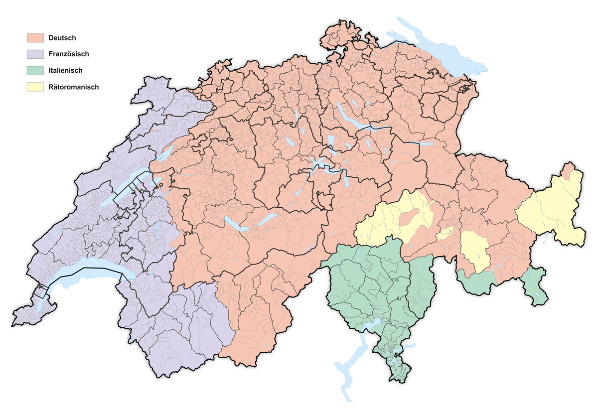Schweiz Amtssprachen Bündnerromanisch