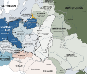 Partitions of Eastern Europe before, during, and after World War II