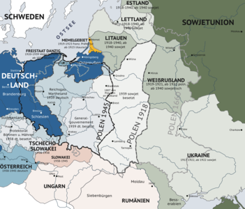 East prussia wikipedia an illustration of the changing borders in eastern europe before during and after world war ii map is written in german gumiabroncs Image collections