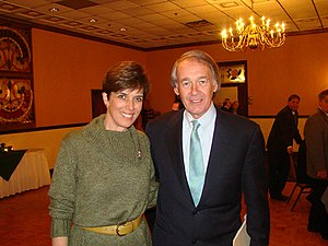 At an event with then U.S. Representative Ed Markey in 2008.