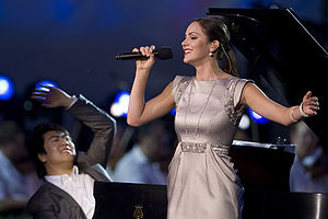 Lang Lang - Lang Lang and singer Katharine McPhee perform at the National Memorial Day Concert in Washington, D.C., 24 May 2009