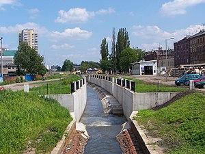Rawa (river) - Rawa open canal in Katowice