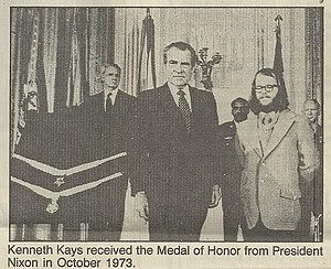 506th Infantry Regiment (United States) - Kenny Kays Receives Medal of Honor from Richard Nixon