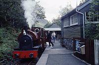 Kerr Stuart 0-4-2ST No. 4047 of 1921. Talyllyn Railway No. 4 'Edward Thomas' (ex-Corris Rly) Abergynolwyn, Wales 17.8.1992 (10196586434).jpg