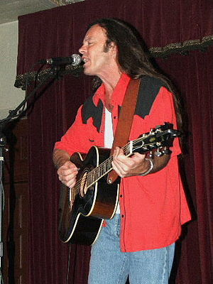 Kevin Welch - Kevin Welch at Cactus Cafe in Austin, Texas.  Photo by Ron Baker (2005).