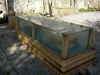 Khwaju Kermani - The tomb of the poet is encased in a protective glass to shield from the elements in Shiraz