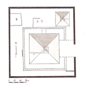 Pyramid of Khendjer - Plan of the Pyramid Complex