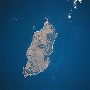 Satellitenbild von King Island