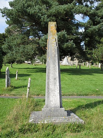 Henry Kingsley - The obelisk raised over Kingsley's grave, Holy Trinity Church, Cuckfield