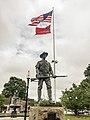 Kitson's The Hiker stands over Taunton Green, Massachusetts.jpg