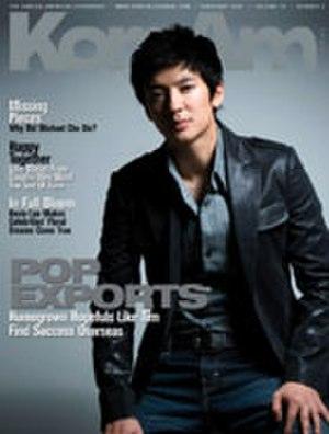 Tim (singer) - On the cover of KoreAm, February 2008
