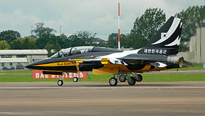 Black Eagles aerobatic team - T-50Bs at the Royal International Air Tattoo in 2012
