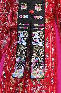 Korean embroidery embroidery style of Korea