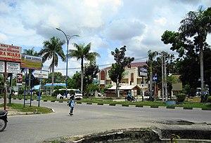 Bangkinang - street on Central Bangkinang