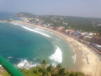 Kovalam - View of Kovalum City from Light House