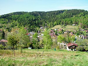 Bystra, Bielsko County - View of the Bystra Valley