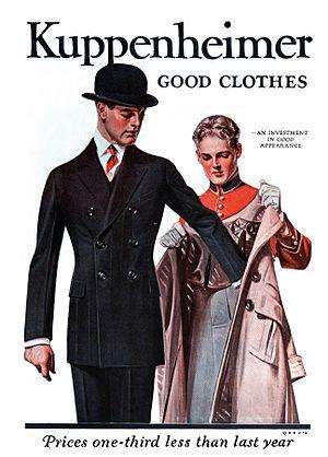 Kuppenheimer - 1921 advertisement