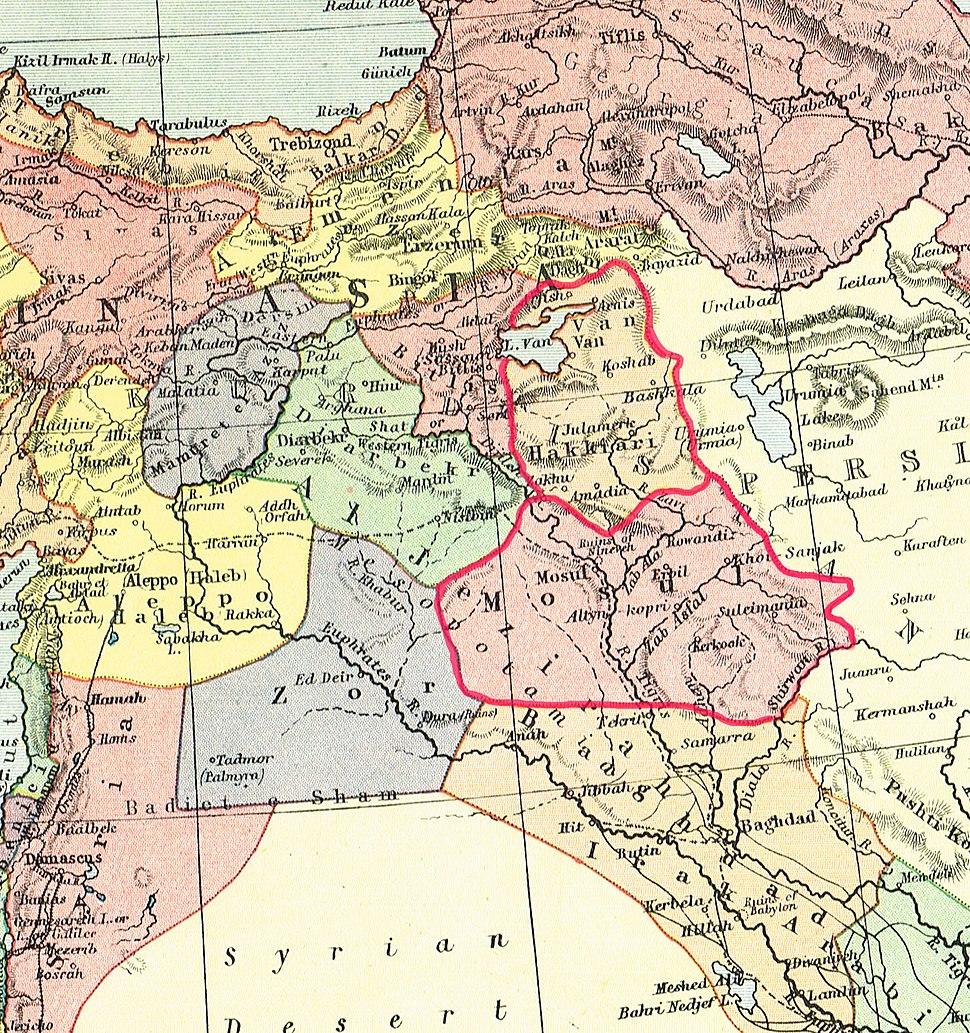 Kurdish States 1902 -outlined