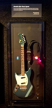 The Lake Placid Blue Fender Mustang played by Kurt Cobain during the filming of the video for