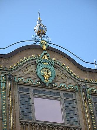 Løvenborg - Detail from Løvenborg's facade