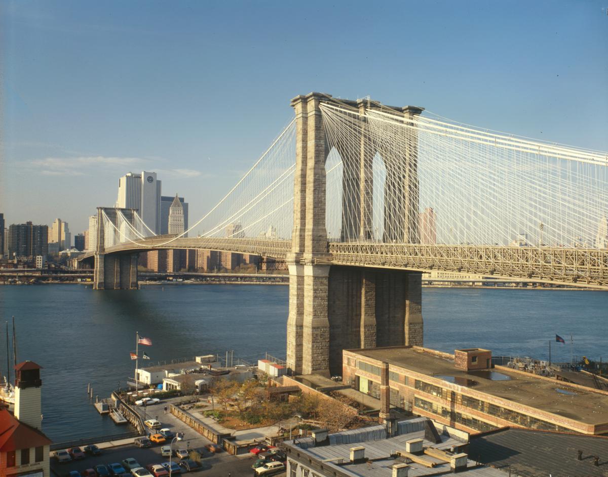 Puente de brooklyn wikipedia la enciclopedia libre for New york architettura contemporanea