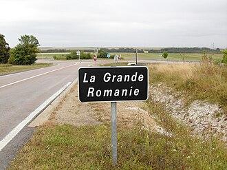 Somme-Vesle - Voie romaine au hameau de la Grande Romanie