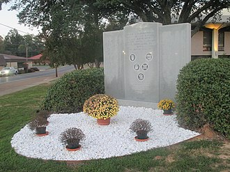 LaSalle Parish, Louisiana - Veterans monument at the LaSalle Parish Courthouse