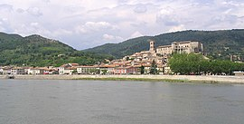 La Voulte-sur-Rhône seen from across the river