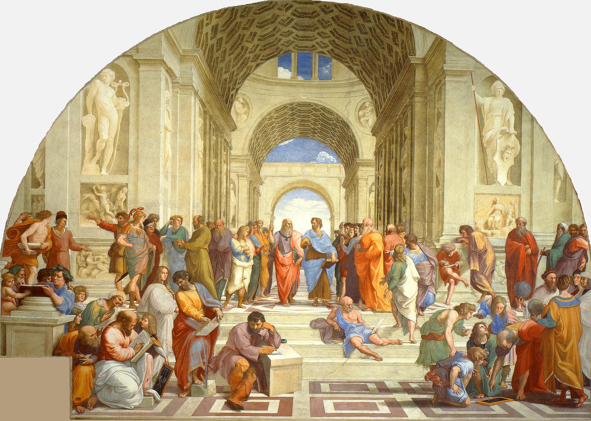 Observa cómo Rafael dividió La escuela de Atenas en dos mitades perfectamente equilibradas