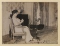 Lady Hendrie in a sitting pose, knitting (HS85-10-31602) original.tif