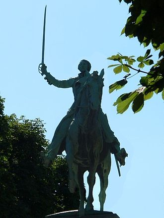 Honors and memorials to the Marquis de Lafayette - Monument to Lafayette in Paris