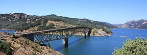 Sonoma County, California - Image: Lake Sonoma 2