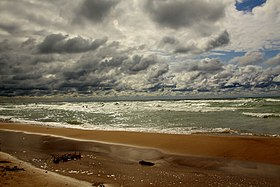 Lake Michigan and the beach, Harbert, Michigan.jpg