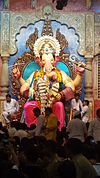 Lalbagh, Mumbai, during Ganpati days.jpg