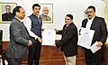 Lalit Jain and Shri M.N. Vyas, towards the Prime Minister's National Relief Fund (PMNRF), in New Delhi.jpg